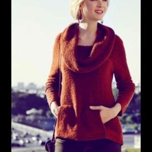 🌹Angel of the North Orange Burnt CowlNeck Sweater
